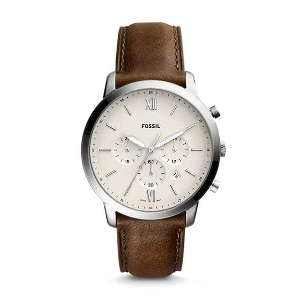 Fossil Watches Fossil Neutra Chronograph Brown Leather Watch 44mm FS5380P