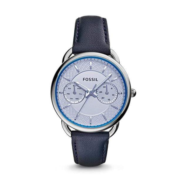 Fossil Watches Fossil Tailor Multi-Function Blue Leather Watch 35mm ES3699P