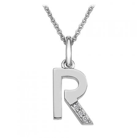 Hot Diamond Necklace Diamond 'R' Micro Necklace
