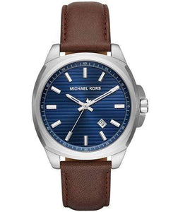 Michael Kors Watches Michael Kors Men's Bryson Brown Leather Strap Watch 42mm MK8631