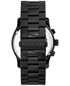 Michael Kors Watches Michael Kors Men's Runway Black Ion Plated Stainless Steel Bracelet Watch 45mm MK8157