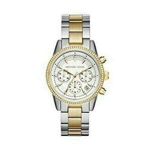 Michael Kors Watches Michael Kors Ritz Chronograph Crystal White Dial Ladies Watch 37mm MK6474