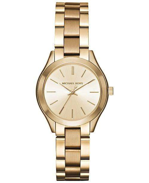 Michael Kors Watches Michael Kors Women's Mini Slim Runway Gold-Tone Stainless Steel Bracelet Watch 33mm MK3512