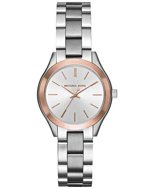Michael Kors Watches Michael Kors Women's Mini Slim Runway Stainless Steel Bracelet Watch 33mm MK3514