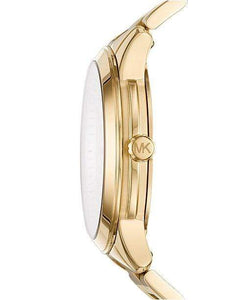 Michael Kors Watches Michael Kors Women's Runway Gold-Tone Stainless Steel Bracelet Watch 38mm MK6588