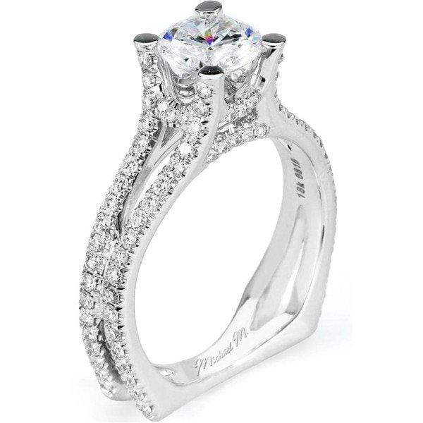 Michael M Engagement Ring Michael M Europa Pave R526-1