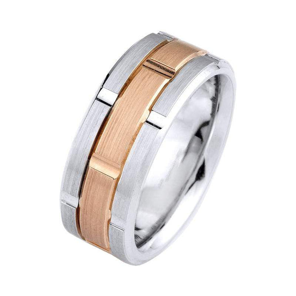 Michael M Wedding Band Michael M Two Tone Wedding Band MB-115