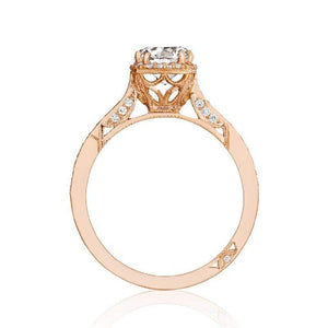 Tacori Engagement Ring Tacori 0.25ctw Diamond Small Pave Diamond Rose Gold Ring 18K