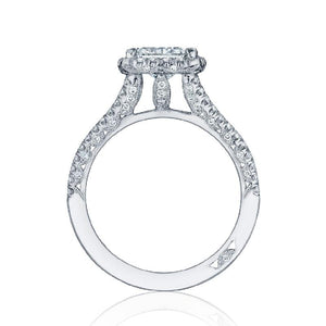 Tacori Engagement Ring Tacori 0.58ctw Diamond Petite Crescent Split Half Way Ring 18K