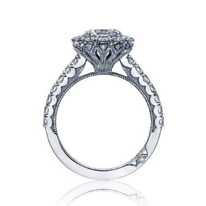 Tacori Engagement Ring Tacori 0.71ctw Diamond Half way Sculpted Crescent Ring 18K