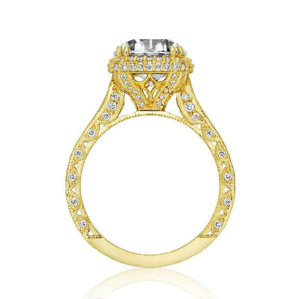 Tacori Engagement Ring Tacori 1.28CTW Diamond RoyalT Cushion Halo Ring 18K
