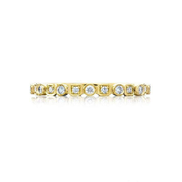 Tacori Wedding Band Tacori Sculted Screscent 0.17ctw Stackable Bank 18K