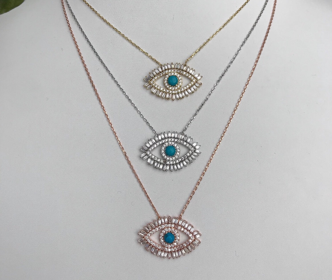 Baguette Eye Necklace