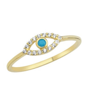 Delicate and Dainty Evil Eye Ring