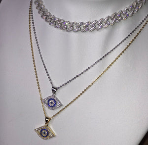 Dainty Eye Necklace