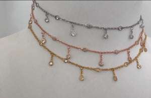 Dainty Beaded Drop Choker