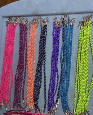 Colorful thread anklet