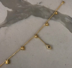 Stars and Eye Anklet