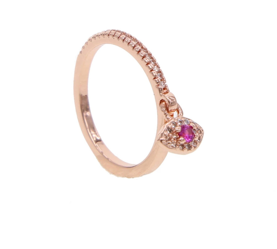 Dainty eye charm ring