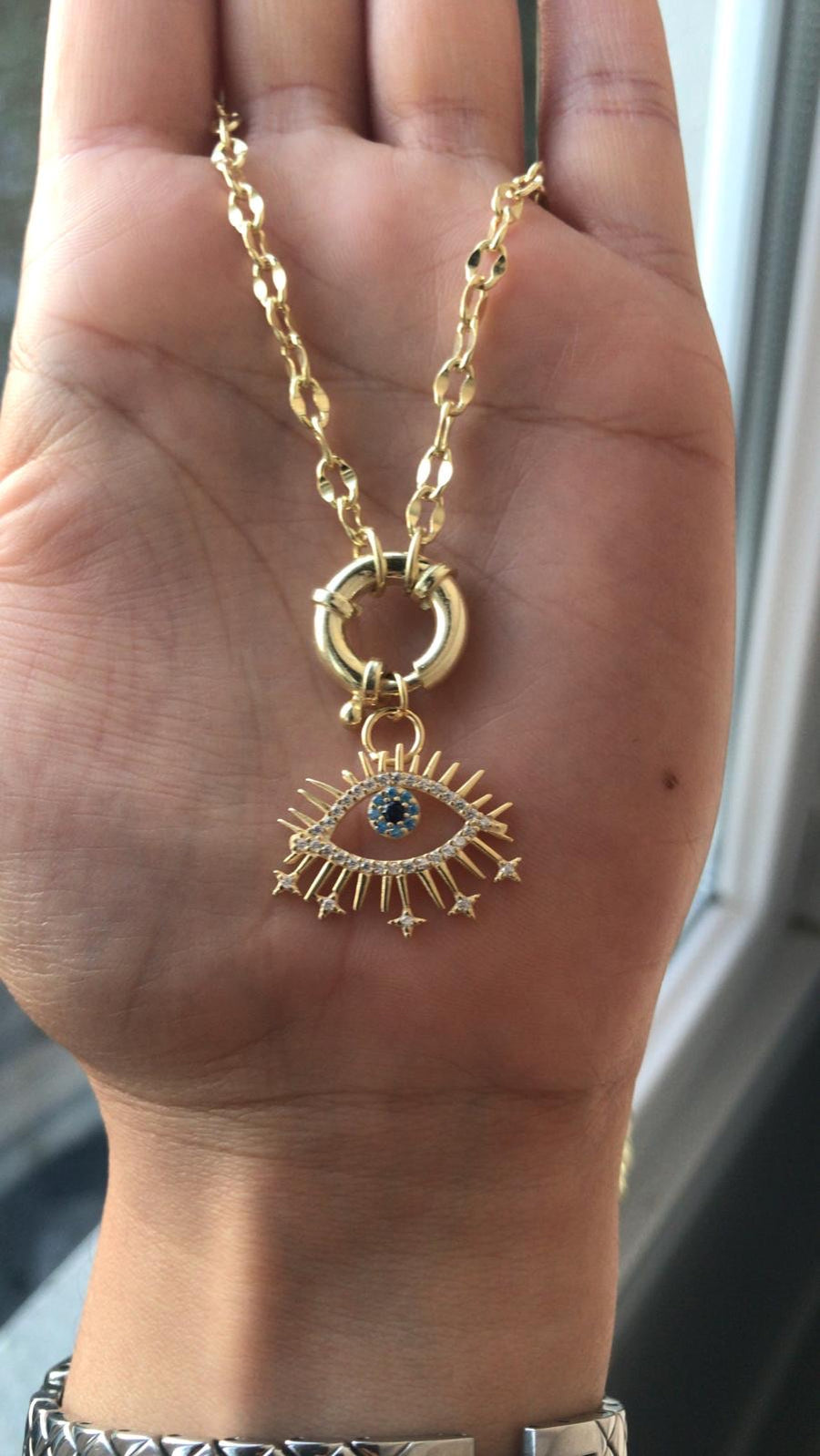 Shooting Stars Evil Eye Necklace