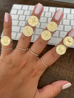 Horoscope Coin Ring