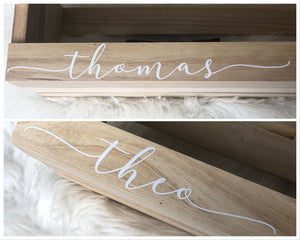 Personalized Wooden Crate