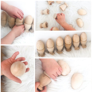 Montessori Egg and Cup - Set of Six