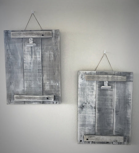 Rustic Wooden Frame with Clips - On Maple Lane