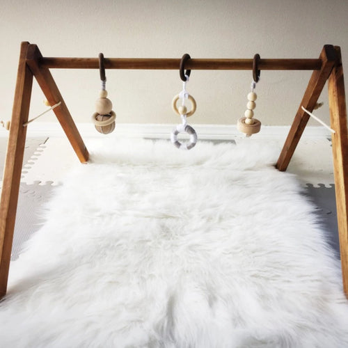 Baby Gym in All Natural Organic Dark Stain