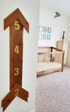 Load image into Gallery viewer, Wooden Arrow Growth Chart - On Maple Lane