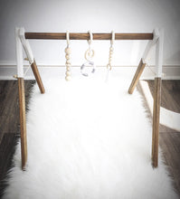 Load image into Gallery viewer, Baby Gym in Dark Stain with White Tips - On Maple Lane