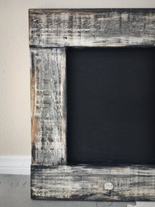 Rustic Wood Framed Chalkboard - On Maple Lane