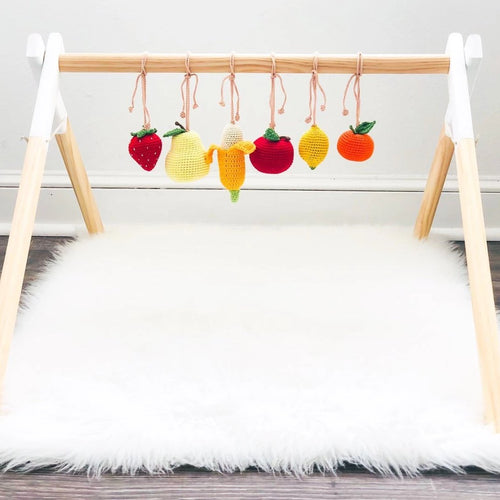 Baby Gym with Crochet Toys - On Maple Lane