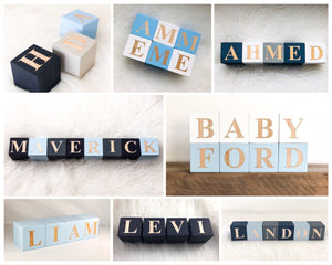 Baby Name Blocks Wood Letter