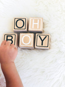 Baby Name Blocks with Border