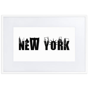 "Matte Paper Framed Poster With Mat ""NEW YORK"""