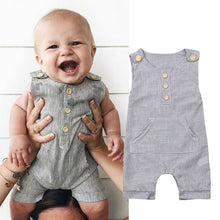 Load image into Gallery viewer, 6m-18M Linen Romper