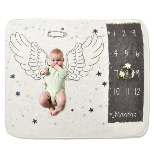 Baby Milestone Blanket - Angel Wings