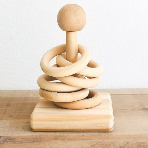 Wooden Stacking Ring Toy