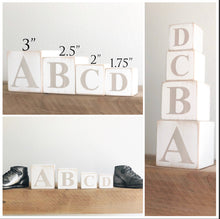 Load image into Gallery viewer, Baby Name Blocks in Vintage Distressed Multi