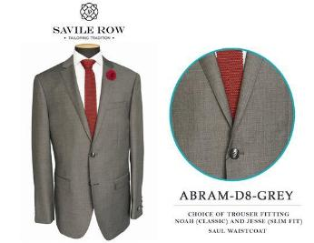 Savile Row Abram D-8 Grey
