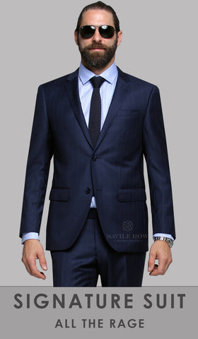 Savile Row Suit - FW1 Navy Check