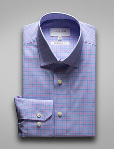 Hardy Amies HA393S Blue/Red Check ( Online Only )