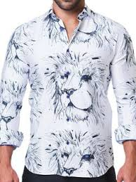 Maceoo Shirt - Lion White
