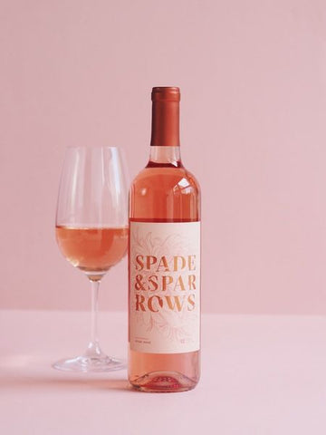 Bottle of rose wine from Spade & Sparrows