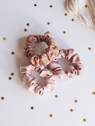 Pink scrunchies from Dew Edit