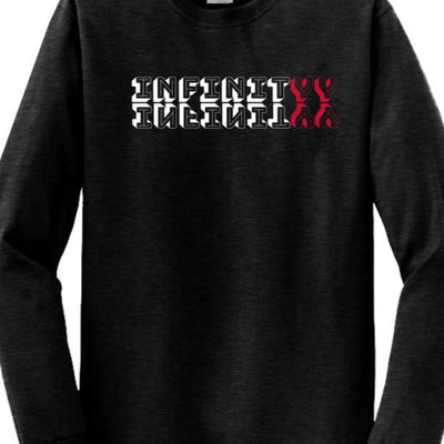 Black INFINITYY Long Sleeve Shirt (Unisex)