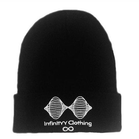 Black Infinityy Clothing Beanie