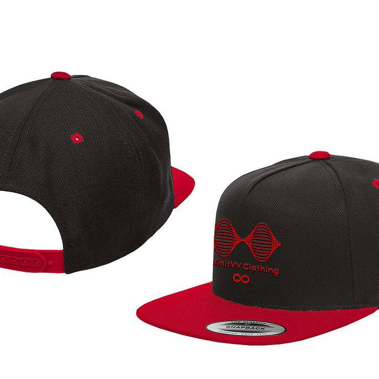 Black & Red Infinityy Clothing Snap Back