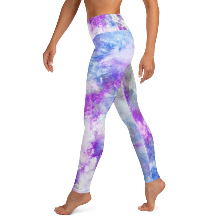 Purple tie die Leggings